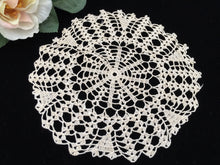 Load image into Gallery viewer, Vintage Ecru Crocheted Round Cotton Lace Doily