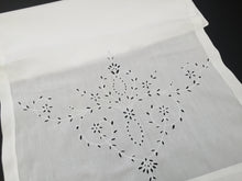 Load image into Gallery viewer, Antique Irish Linen Madeira Broderie Anglaise Embroidered Nightgown Bag