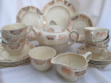 Load image into Gallery viewer, J & G Meakin Sunshine R 561073 Tea Set Complete with Teapot, Creamer, Sugar Bowl, Tea Cups, Saucers and Plate