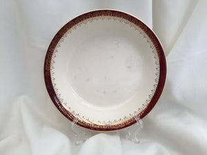 Alfred Meakin Maroon and Gold Band MEA9 Pattern Soup or Cereal Bowl