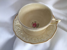 Load image into Gallery viewer, Crown Ducal Florentine Rose Pattern 5379 Embossed Teacup and Saucer