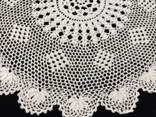 Load image into Gallery viewer, Round Vintage Crocheted Fine Cotton Lace Doily