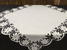 Load image into Gallery viewer, Embroidered Square Tablecloth with Madeira (Cutwork) and Needle Lace