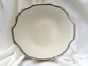 Antique Alfred Meakin Large Serving Platter Ivory and Gold