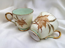 Load image into Gallery viewer, Paragon (UK) Leaf Pattern Vintage Porcelain Espresso Cup Pair (no saucers)