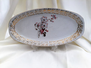 "Hostess British Anchor 12"" Oval Serving Platter Pattern No 6686"