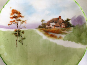 Royal Doulton Hand Painted Small Ring or Pin Dish Farmhouse Pattern