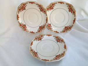"Set of 3 Royal Winton ""Coniston"" Pattern 6"" Orphan Saucers"