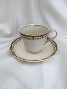 Vintage Creampetal Grindley Portman Pattern Tea Cup with Saucer
