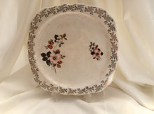 "Load image into Gallery viewer, Lord Nelson 10"" Square Flat Cake Plate Gold Filigree and Floral Design"