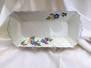 "Plant Tuscan China Hand Painted 11"" Serving Platter or Sandwich Tray"