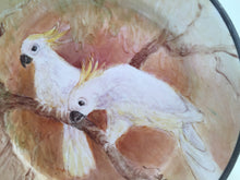 Load image into Gallery viewer, Vintage Decorative Plate with a Pair of Sulphur Crested Cockatoos