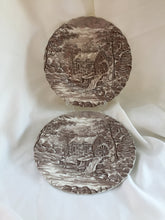 "Load image into Gallery viewer, Alfred Meakin ""The Mill"" (Brown) Pattern Pair of Decorative Plates"