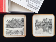 Load image into Gallery viewer, Cedric Emanuel Melbourne Collectible Pimpernel Drink Coasters Golden Jubilee 1983 Year Edition Cork Coasters