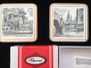 Cedric Emanuel Melbourne Collectible Pimpernel Drink Coasters Golden Jubilee 1983 Year Edition Cork Coasters