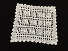 Load image into Gallery viewer, Vintage Filet Crochet Lace Doily