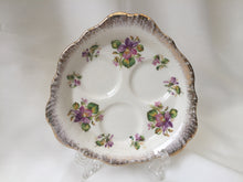 "Load image into Gallery viewer, Crown Ducal Violets 5"" Orphan Triple Espresso Saucer 30772 Pattern"