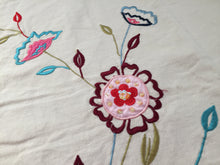 Load image into Gallery viewer, Machine Embroidered Linen Panel for Cushion, Quilt Making or Other Craft Projects