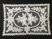 Load image into Gallery viewer, Small White Vintage Point de Venise Reticella Style Needle Lace Table Runner or Centerpiece