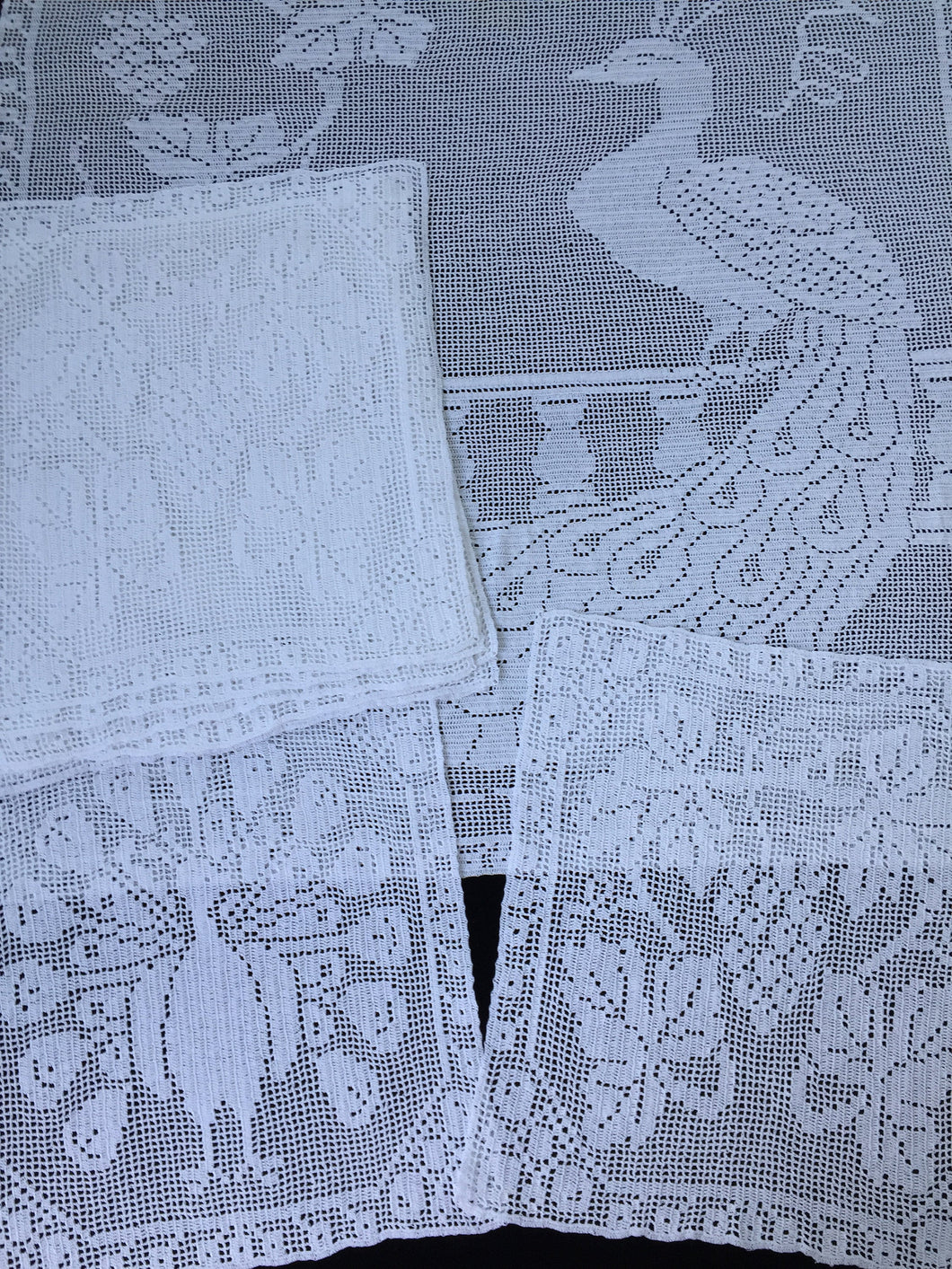 Antique White Lace Panels for Making the Mary Card Designed