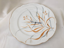 "Load image into Gallery viewer, Hand Painted 9"" Vintage Porcelain Plate with Dragonfly"