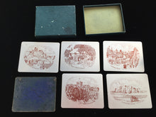 Load image into Gallery viewer, Vintage Boxed Set of 6 Anodised Aluminium Tumbler Coasters by Winchester Art Products England