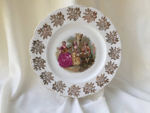 "Royal Albert Fragonard Collectible 9"" Square Dinner or Cake Plate"