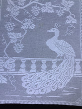 "Load image into Gallery viewer, Antique White Lace Panels for Making the Mary Card Designed ""Peacock and Grapevine"" Bed Cover Chart No. 3"