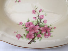 Load image into Gallery viewer, A J Wilkinson Honeyglaze Oval Candy Bowl with Peach Blossom Pattern