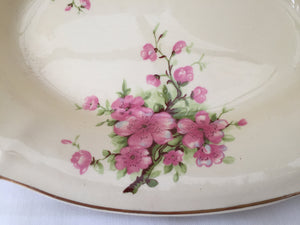 A J Wilkinson Honeyglaze Oval Candy Bowl with Peach Blossom Pattern