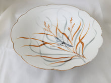 "Load image into Gallery viewer, Hand Painted 9"" Vintage Pedestal Bowl with Dragonfly"