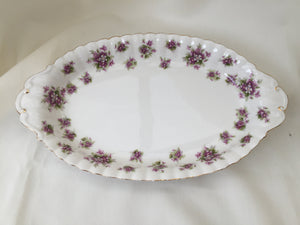 "Royal Albert ""Sweet Violets"" Vintage Oval Candy or Snack Bowl/Dish"