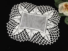 Load image into Gallery viewer, Vintage Oblong Tulle Doily with Crocheted Lace Border
