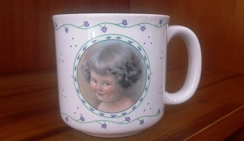 Bessie Pease Gutmann Mischief H2163 Collectable Coffee Mug 1990