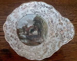 "James Kent Longton Candy Bowl ""Valley Farm"" by J Constable"