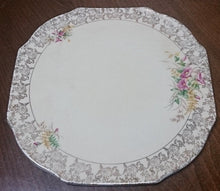 Load image into Gallery viewer, Elijah Cotton Ltd Lord Nelson Ware Cake Plate with Gold Filigree Border