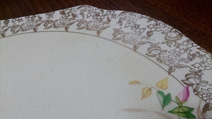 Elijah Cotton Ltd Lord Nelson Ware Cake Plate with Gold Filigree Border