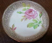 "Load image into Gallery viewer, Swinnertons Staffordshire ""Luxor Vellum"" Ring Dish Red Roses Design"