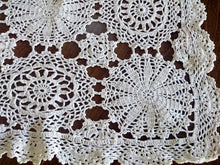 Load image into Gallery viewer, Large Vintage Crocheted Ivory Colour Doily