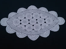 Load image into Gallery viewer, Vintage Oval Ecru (Natural Cotton Colour) Crochet Lace Doily
