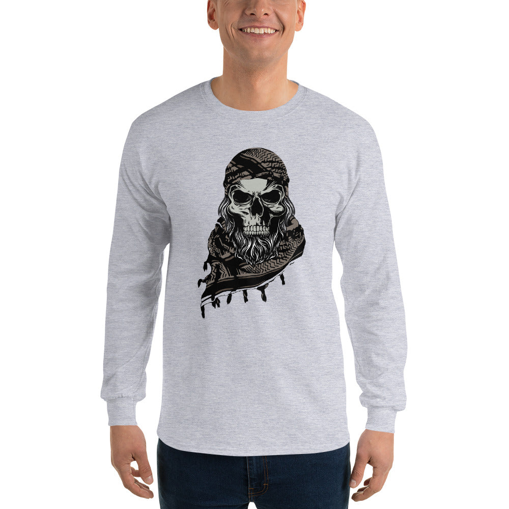 Scary Arab Skull - Men's Long Sleeve Shirt