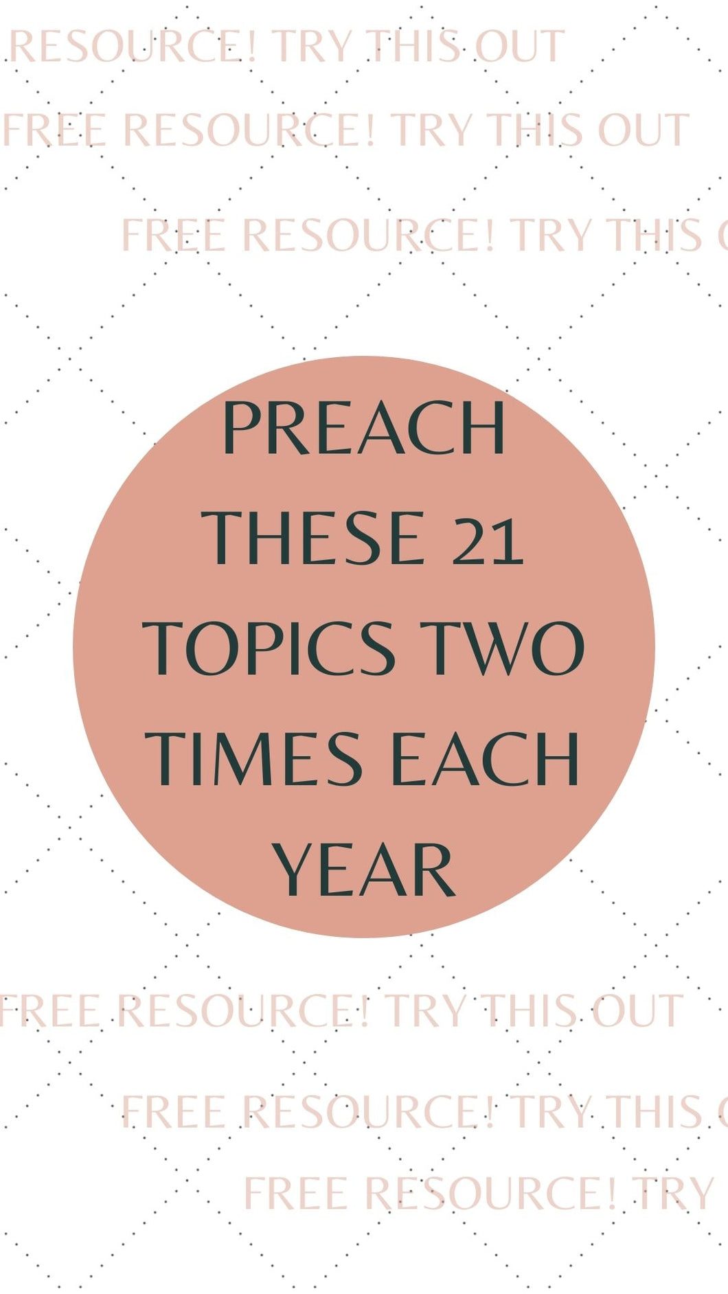 FREE ITEM Twenty-One Topics Worksheet