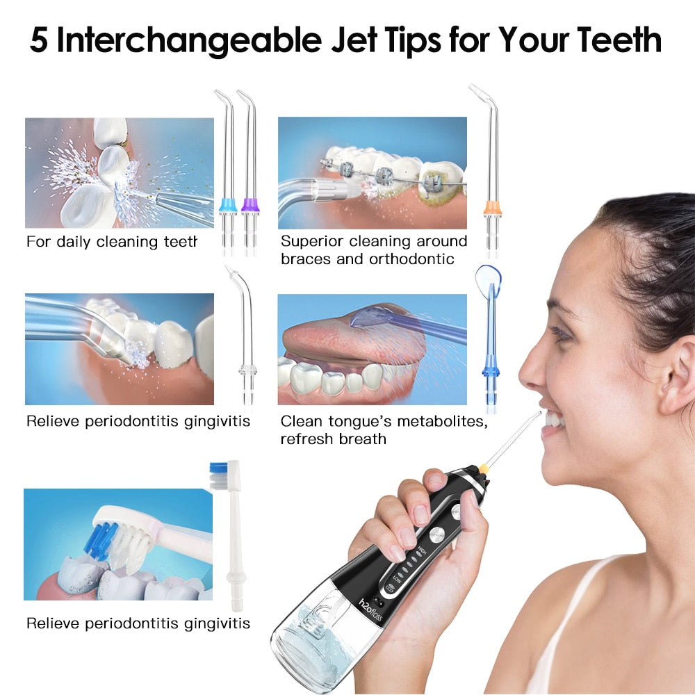 SmileJet™ Water Flosser Toothbrush - Cordless Waterpik