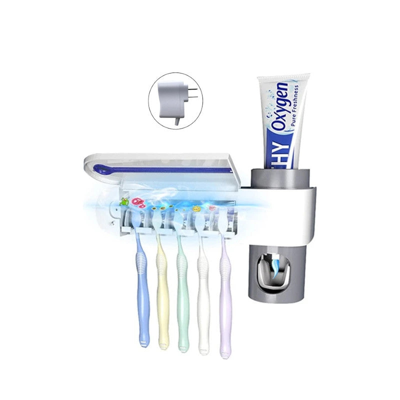 UV Antibacterial Toothbrush Holder + Sterilizer