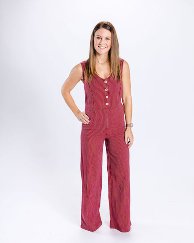 Mommy Bailey Button Front Jumpsuit