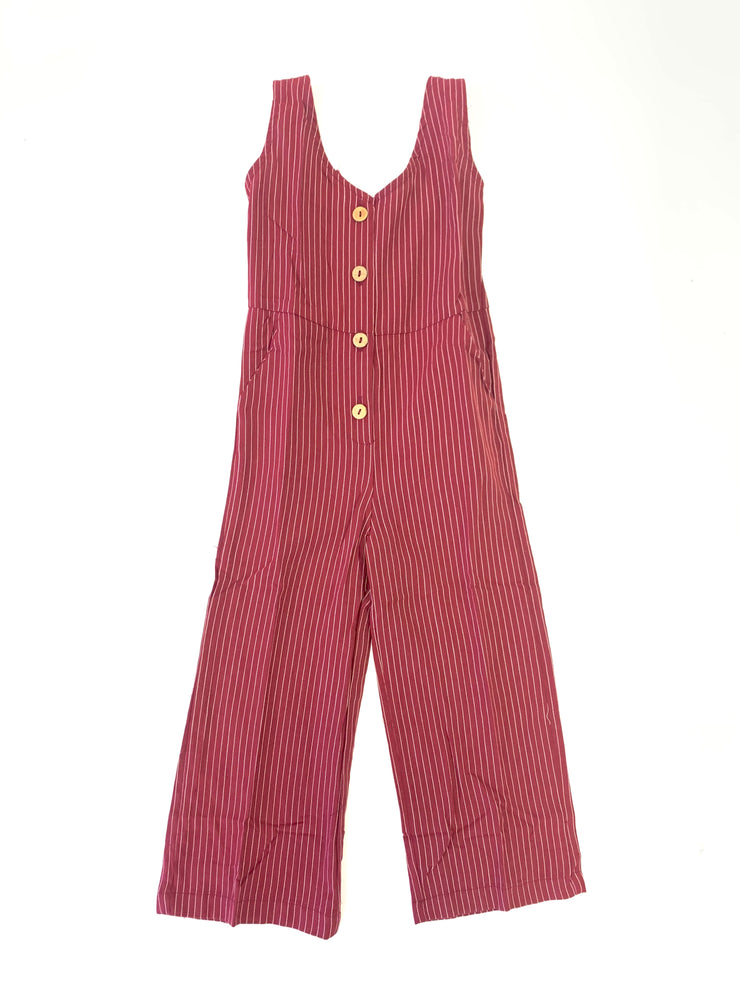 Girls Bailey Button Front Jumpsuit