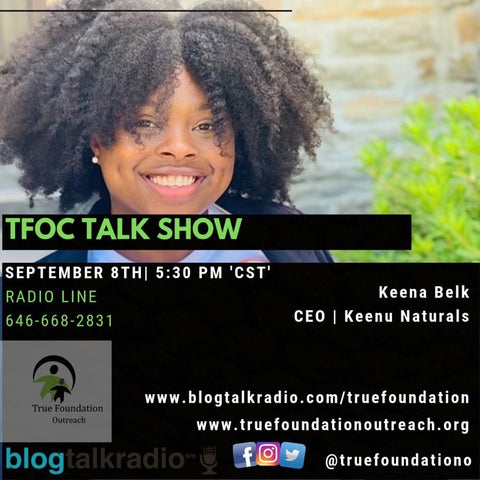 Keenu Naturals CEO on TFOC Talk Show