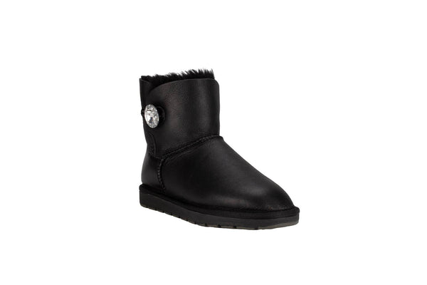 Mini Leather Button Uggs