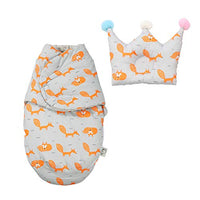 XmasExp Baby Sleeping Sack with Cute Pillow - Adjustable Cotton Wearable Swaddle Blanket