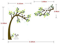 ALiQing Nursery Wall Decals~Family Tree Wall Decal Koala Bear Wall Stickers Kids Baby Bedroom Wall Decor (225cm Width x 150cm Height) (Brown,Green)